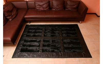 Leather carpet