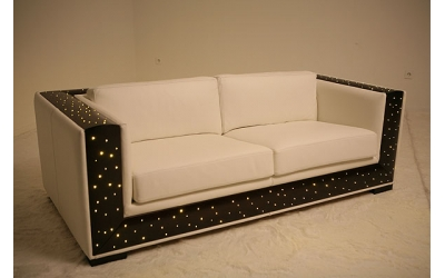 Sofas with optical fibers