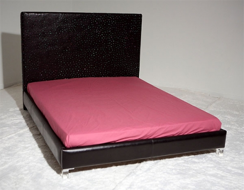 Beds with optical fibers